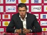 Conférence de presse Stade de Reims - OGC Nice : Hubert FOURNIER (SdR) - Claude  PUEL (OGCN) - saison 2012/2013