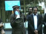 Asim Khan's (President PTI London) speach at protest against drone attacks in pakistan outside US Embassey in London