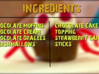 Quick & easy children recipe: chocolate spiders muffins