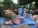Remise d'outils pédagogiques aux écoles de l'Île Mbamou