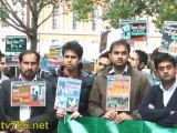 Asim Khan, President Pti London.  PTI UK protested against US Drone Attacks in Pakistan