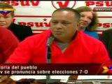 (Vídeo) PSUV exige respeto para los 8 millones de venezolanos que votaron por Chávez (1/2)