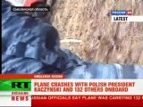 First on-site video of plane crash that killed Polish president Lech Kaczynski - Peter Lavelle