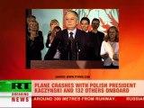 Polish President Lech Kaczynski dies in plane crash in Western Russia