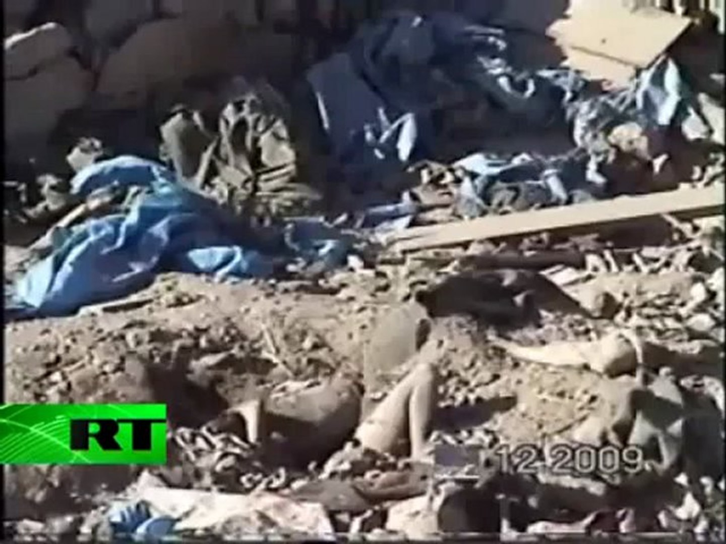 Full video of alleged air strike aftermath in Yemen