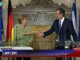 """Grèce: Merkel """"veut que la Grèce reste dans l'euro"""""""
