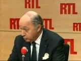 """Laurent Fabius, chef de la diplomatie française : """"Ne pas voter le traité européen aurait été un cataclysme"""""""