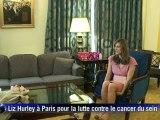 Liz Hurley à Paris pour la lutte contre le cancer du sein
