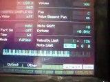 Yamaha Motif XS Montando um metal no modo performace com os samples da song demo by sidinholeal