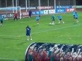 Entrainement de l'équipe d'Espagne avant Espagne - France
