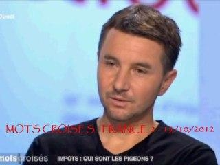 Besancenot MOTS CROISES FRANCE2 15 Octobre 2012