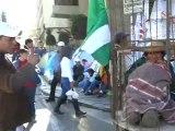 BOLIVIE- La Paz: Manifestation des Indiens, tension dans la Paz