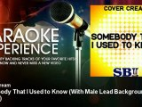 Cover Cream - Somebody That I Used to Know - With Male Lead Background Vocals - KaraokeExperience