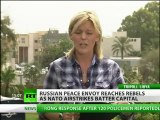 Russian peace envoy reaches rebels amid NATO haviest Tripoli bombing