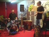 Julien Charnet Yann Djokovic : African percussion and Drums Jam Session#2