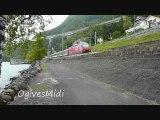 Les Trains du lac Léman - Entre Villeneuve et le Château de Chillon - Suisse - Juillet 2012