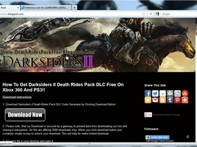Darksiders 2 Death Rides Pack DLC Free on Xbox 360 And PS3
