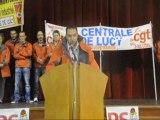 """Les """"Lucy"""" s'invitent au congrès fédéral du PS 71 : Claude Martin (CGT) explique (20/10/12)"""