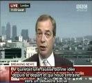 """Nigel Farage : """"Le prix Nobel de la paix attribué à l'Union européenne est un non-sens !"""""""