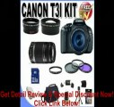 Canon EOS Rebel T3i 18 MP CMOS Digital SLR Camera and DIGIC 4 Imaging with EF-S 18-55mm f/3.5-5.6 IS Lens & Canon 75-300 f/4-5.6 III Lens + 58mm 2x Telephoto lens + 58mm Wide Angle Lens (4 Lens Kit!!!!!!) W/32GB SDHC Memory+ Extra Battery  REVIEW