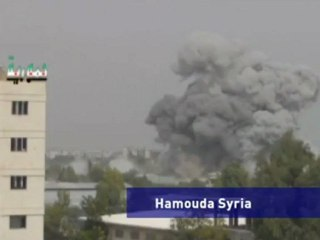 Warplanes bomb residential area of Syrian town