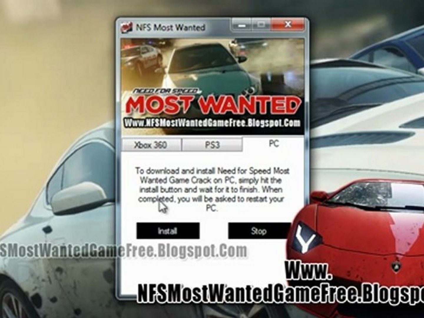 How To Install Need For Speed Most Wanted Game Free On Xbox 360
