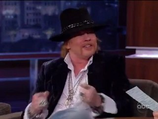 Axl Rose Interview on Jimmy Kimmel live
