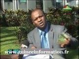 Abdoulaye Yéro Baldé, premier vice-président de la BCRG, Banque Centrale de la République de Guinée, devant la RTG