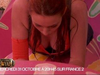 Delphine Wespiser (Miss France 2012) dans les cylindres de Fort Boyard pour Halloween
