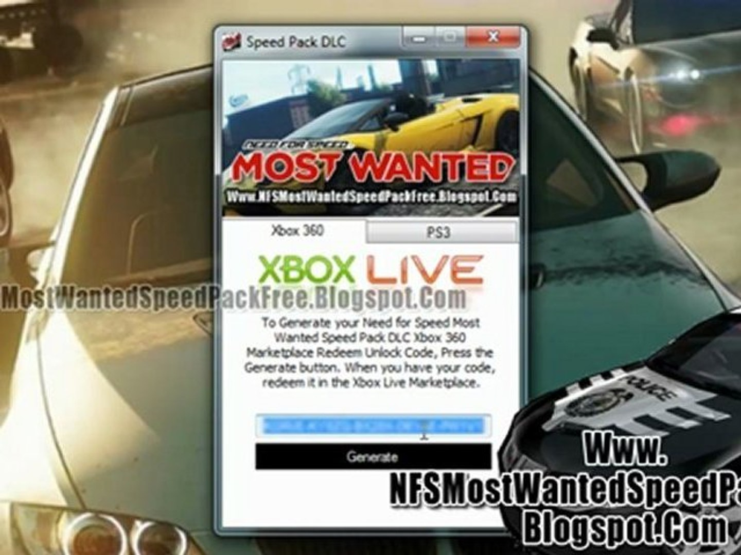 Need For Speed Most Wanted Speed Pack Dlc Free Xbox 360 Ps3