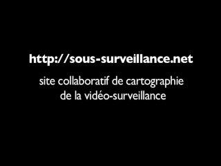 projet sous-surveillance.net