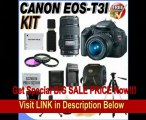Canon EOS Rebel T3i 18 MP CMOS Digital SLR Camera and DIGIC 4 Imaging with EF-S 18-55mm f/3.5-5.6 IS Lens & Canon EF 75-300mm f/4-5.6 III Telephoto Zoom Lens (2 Lens Kit!!!!) W/32GB SDHC Memory+ Extra LPE8 Battery + AC/DC Charger + 3 Piece 58MM Filte