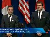 Iker Casillas & Xavi Hernandez - Premio Principe de Asturias 2012