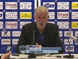 Conférence de presse SC Bastia - Girondins de Bordeaux : Frédéric HANTZ (SCB) - Francis GILLOT (FCGB) - saison 2012/2013