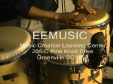 Conga Lessons Greenville SC EEMusic EEMusicLIVE Hand Drums by Eric Blackmon