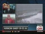 Primeras consecuencias del huracán Sandy en Nueva Jersey