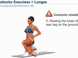 How to get sexy Buttocks - Forward Lunges