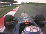 F1 2012 Malaysian GP Vettel Onboard Crash + Middle Finger Narain Karthikeyan [HD] Engine Sounds + BBC HD Onboard Footage