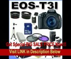 Canon EOS Rebel T3i 18 MP CMOS Digital SLR Camera and DIGIC 4 Imaging with EF-S 18-55mm f/3.5-5.6 IS Lens +58mm 2x Telephoto lens + 58mm Wide Angle Lens (3 Lens Kit!!!!!!) W/32GB SDHC Memory+ Extra Battery/Charger + 3 Piece Filter Kit + Full Size Tripod +