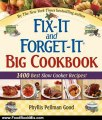 Food Book Review: Fix-It And Forget-It Big Cookbook: 1400 Best Slow Cooker Recipes by Phyllis Pellman Good