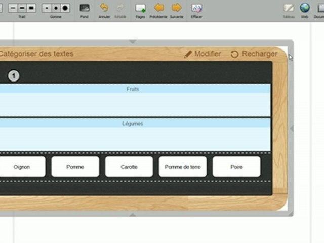 """Tutoriels Open-Sankoré : utiliser l'interactivité """"Catégoriser des textes"""""""