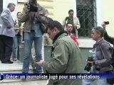 Grèce: procès du journaliste qui a publié une liste bancaire suisse
