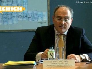 Conférence de presse de Paul Giacobbi (mars 2012)