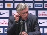 Conférence de presse Paris Saint-Germain - AS Saint-Etienne : Carlo ANCELOTTI (PSG) - Christophe  GALTIER (ASSE) - saison 2012/2013