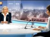 BFM Politique : l'After RMC, Marine Le Pen répond aux questions de Véronique Jacquier