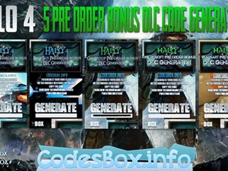 Halo 4 DLC Codes Download FREE Pre-Order Bonus Codes- Xbox 360!
