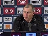 Conférence de presse Girondins de Bordeaux - Toulouse FC : Francis GILLOT (FCGB) - Alain  CASANOVA (TFC) - saison 2012/2013