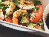 Bien déjeuner dans ma boîte - Salade poulet et crevettes au pamplemousse