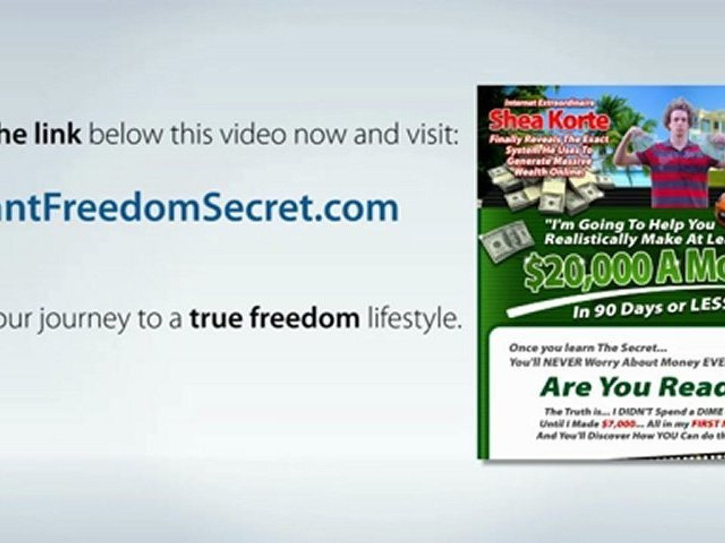 Make Money Super Fast Online - $20K/Mo In 90 Days or Less!