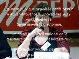 UA2012M'PEP - Réu publique CNR - Introduction M. Dessenne - 3 novembre 2012 à Aix-en-Provence